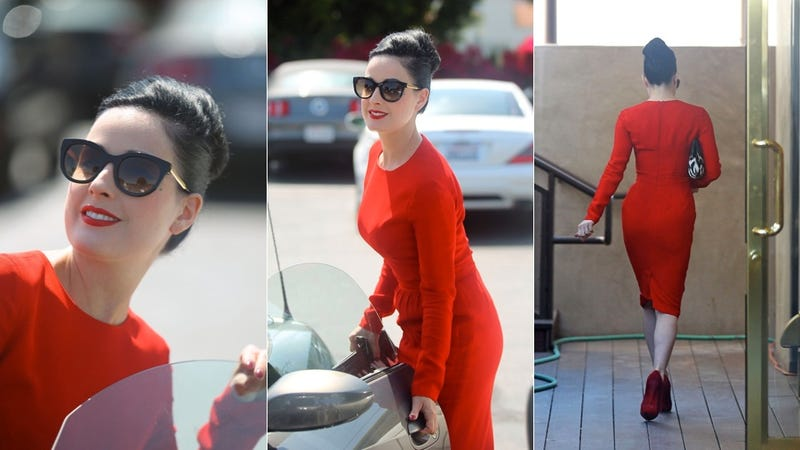Dita Von Teese Has Us Seeing Red