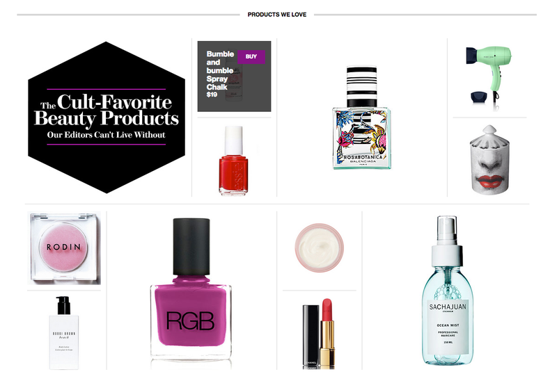 Glamour's New Beauty Website: Buy This and Be Pretty