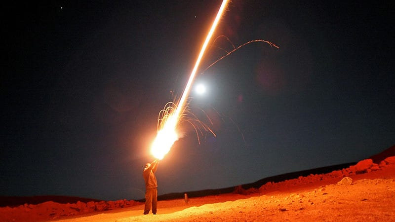 Shooting Fireworks Out of Your Hand... To Train for War Against Iran?