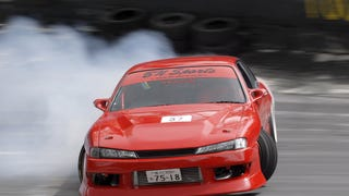 A neighbor has been driving his V8-swapped S14 Kouki all day.