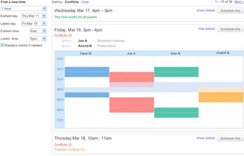 Google Calendar's New Smart Rescheduler Finds a Time that Works for Everyone