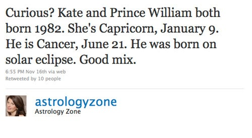 Astrologer Susan Miller Has Good News & Bad News For William & Kate