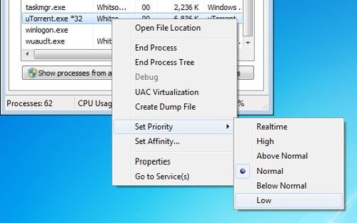Lower Task Priorities in Windows to Avoid Slowdowns