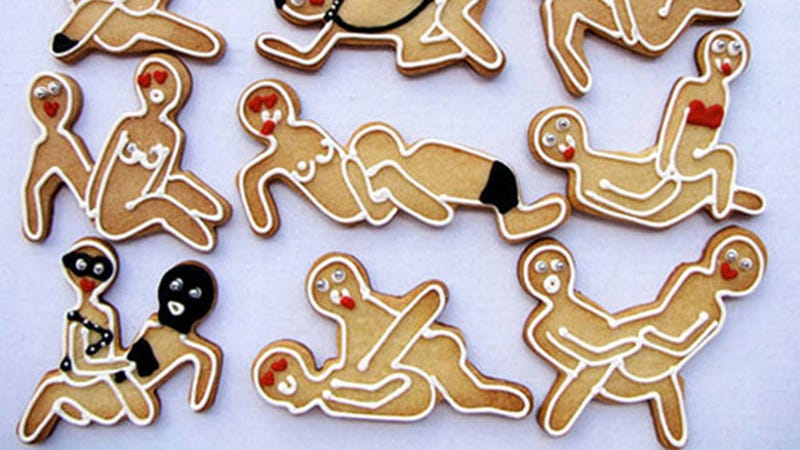 Kama Sutra Gingerbread Cookie Cutters: Not For Family Christmas Parties (NSFW? Maybe?)