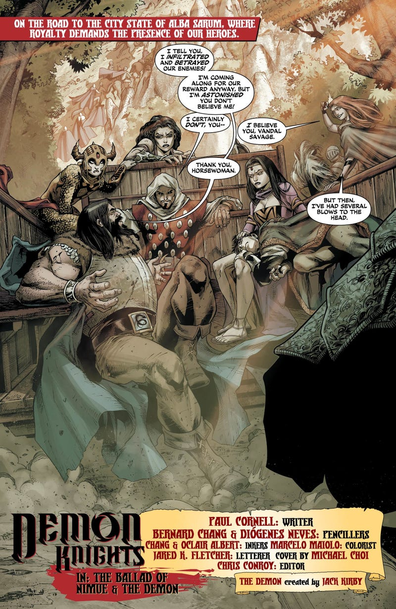 Cranky Merlin Hates All the Magical Flirting in This Demon Knights #8 Preview