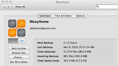 Mozy 2.0 for Mac Speeds Up Backups and Offers Native Looks