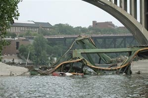 Twins Play On After Bridge Collapse