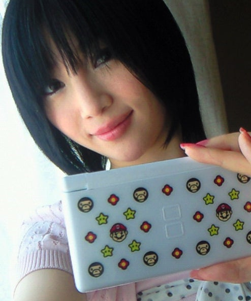 Curvy Japanese Bikini Lady Shows Us Bape Nintendo DS