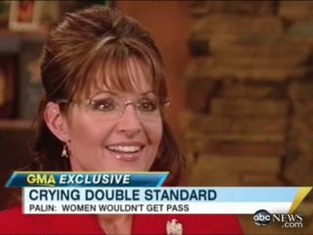"Palin Says There's A ""Double Standard"" On Crying"