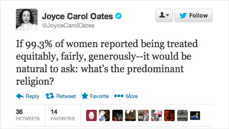 Please Stop Tweeting, Joyce Carol Oates