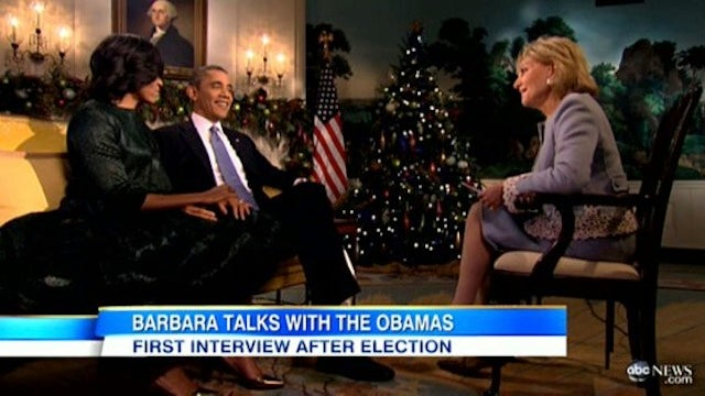 Watch Barbara Walters Awkwardly Ask The Obamas 'How They Keep the Fire Going'