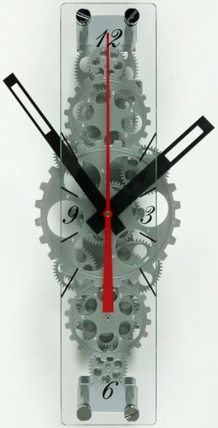 Oblong Gear Clock Anything But Conventional
