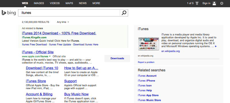 "If You Search Google for ""iTunes"" the Top Link Is a Malware Factory"