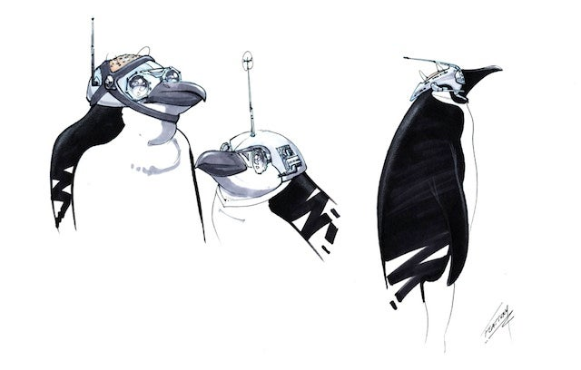 Batman Returns concept art reveals unused penguins armed with buzzsaws and boxing gloves