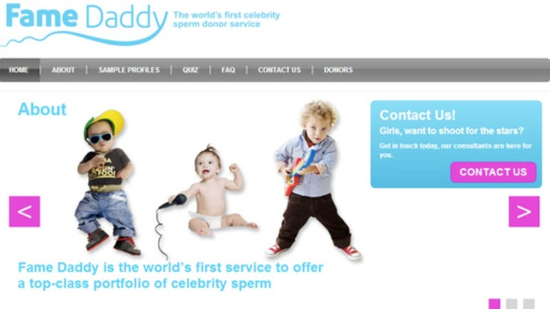 Get the A-List Baby You've Always Wanted With the World's 'First Celebrity Sperm Donor Service'