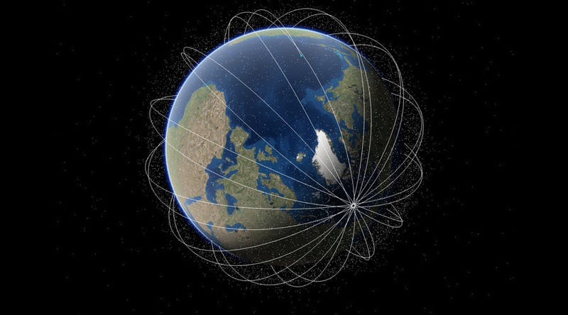 These Amazing Maps Show All Satellites Orbiting The Earth - Satellites map