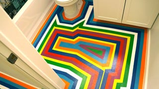DIY: How To Give Your Apartment A Bold New Floor For Less Than $10