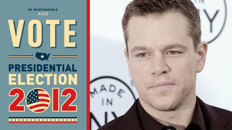 Matt Damon and Other Celebrities Who Should Be President