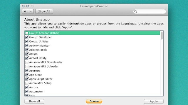 Launchpad Control Hides Unnecessary Apps from Lion's Launchpad