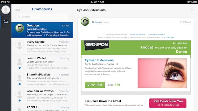 Evomail Is a Gesture-Based, Easy to Use Email Client for the iPad
