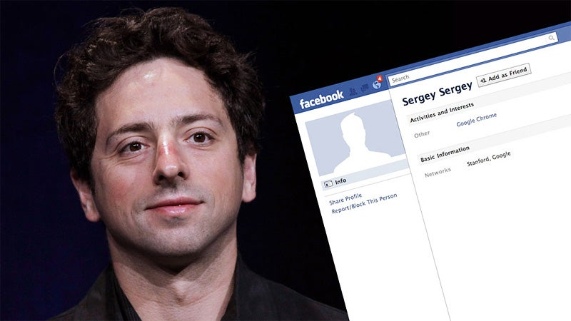 Google's Co-Founder Doesn't Want You to Know About His Facebook Account