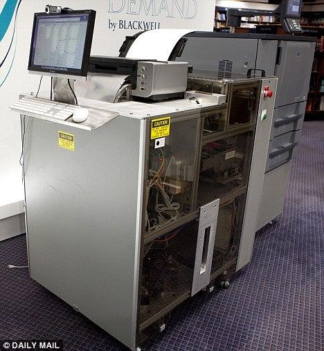 Espresso Book Machine to Print Books on Demand, No Lattes