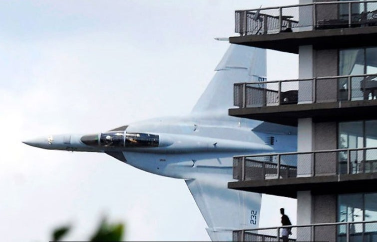 FA-18 Is Flying Too Damn Terrifyingly Close to That Building