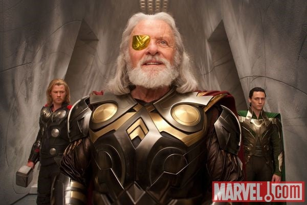 New Thor movie photo shows Anthony Hopkins as the alpha Asgardian