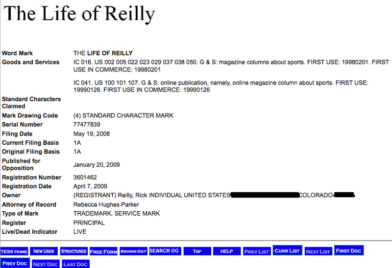 Trademark Wit: Rick Reilly Has Officially Turned Himself Into A Brand