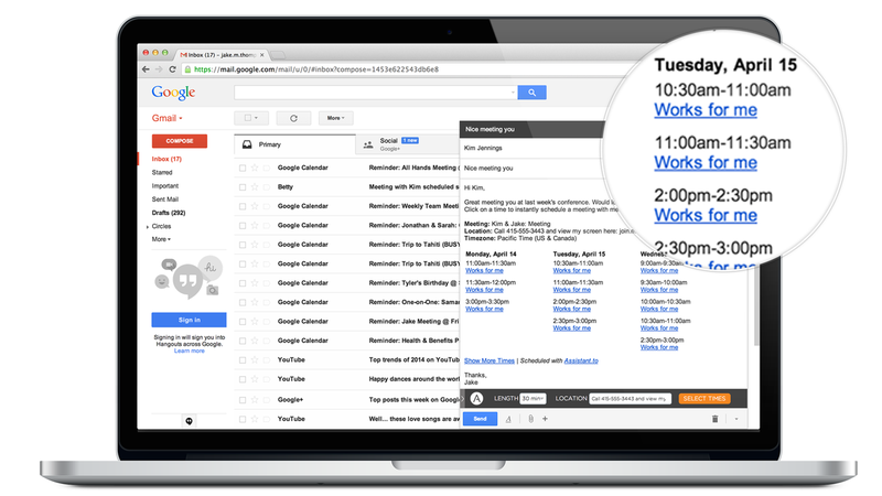 Assistant.to Takes the Hassle Out of Scheduling One-on-One Meetings
