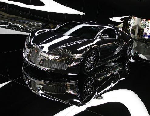 Mirror-Finished Bugatti Veyron Blindingly Ushers in New Autostadt