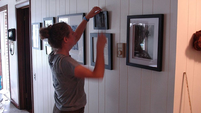How to hang pictures without destroying your walls for Hanging frames on walls