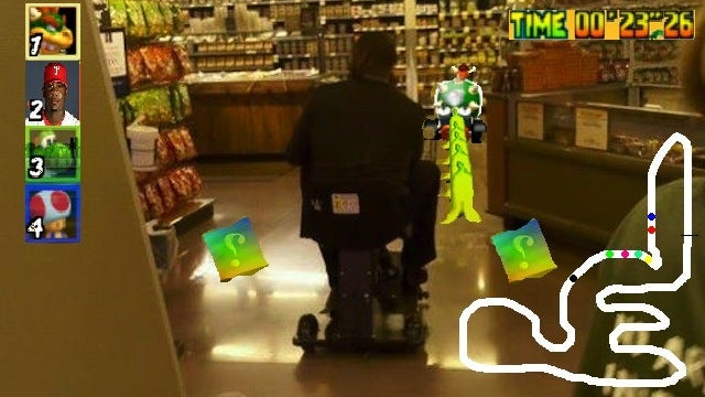 Presenting Your Ryan Howard At A Food Store In A Motorized Scooter Photoshop Roundup