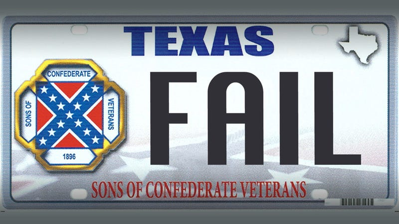 How we stopped Texas from getting a Confederate flag license plate