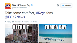 Tampa Bay Station Makes Fun Of Detroit; Detroit Station Burns Them Back