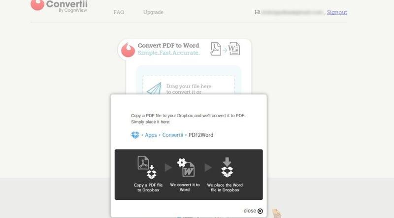 Convertii Turns Dropbox PDF Files Into Word Docs