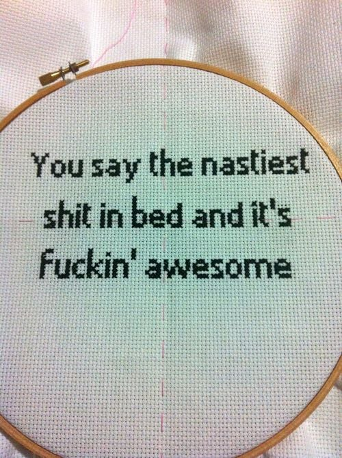 DIY: How To Make Your Very Own Naughty Cross-Stitch
