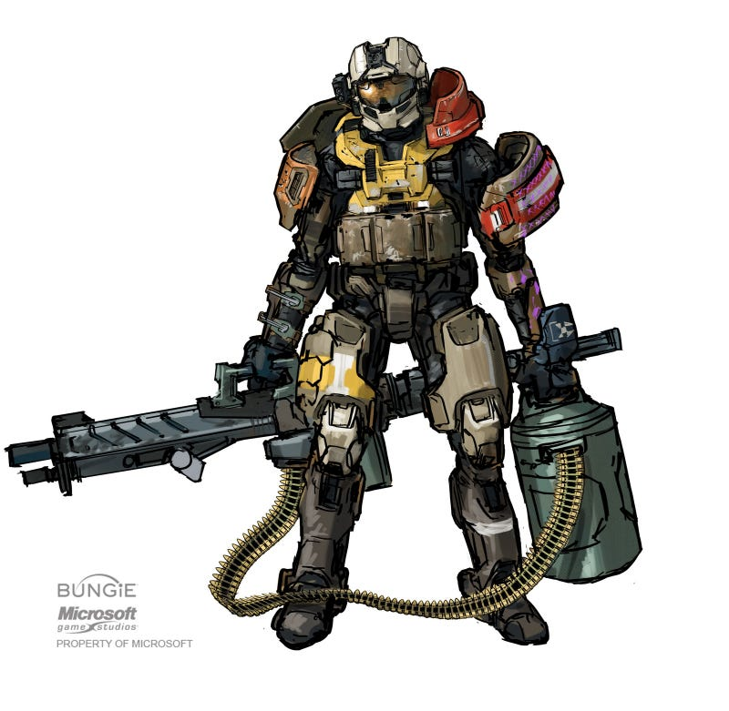 "Halo Reach concept art lets you know ""You've just been killed by a hunting trophy"""