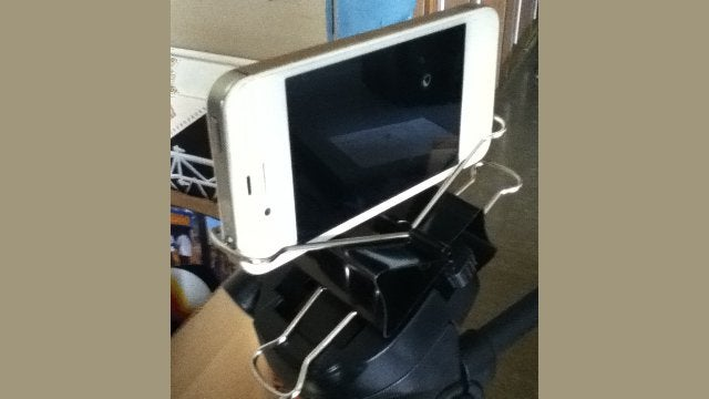 Make a DIY iPhone Tripod Mount with Two Binder Clips