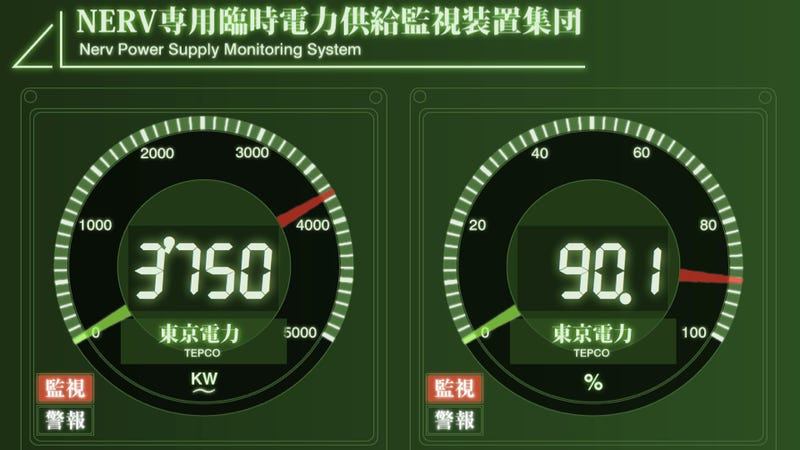 Tokyo's Power Supply Monitored By Neon Genesis Evangelion