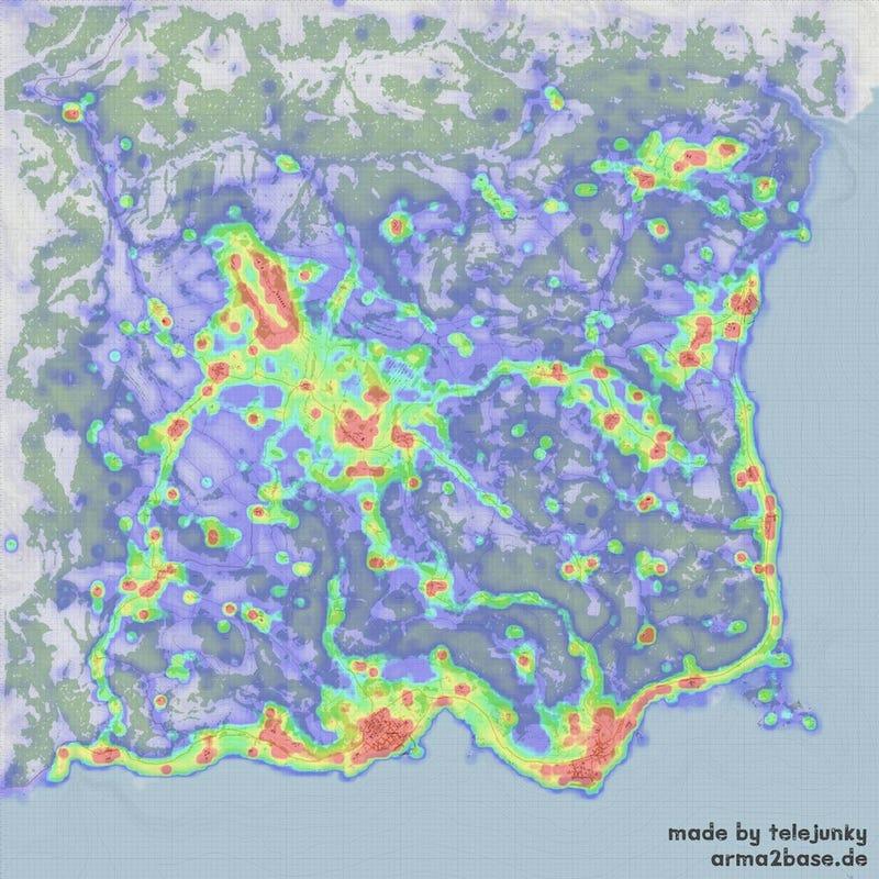 DayZ Killmap Shows Where You'll Probably Die