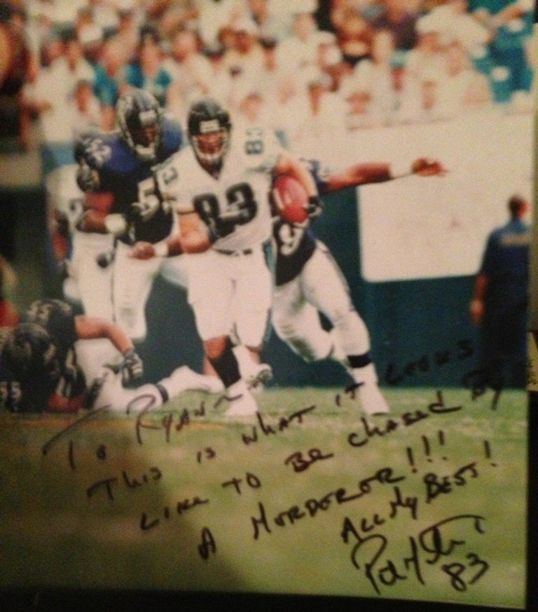 This Is How You Sign A Picture Of Ray Lewis Trying To Tackle You