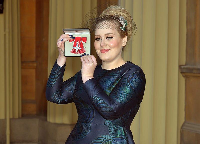 Adele Displays Her Full Plumage