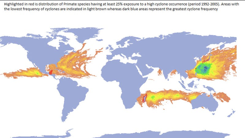 Maps of Earth Showing Where Severe Weather is Most Likely to Kill