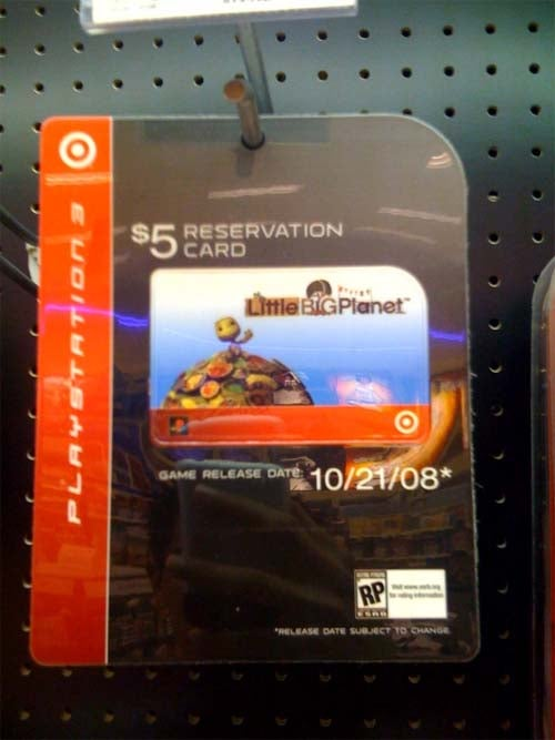 Does This Target Card Show LBP's Release Date?