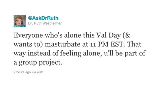 Dr. Ruth Has Your Valentine's Day Plans