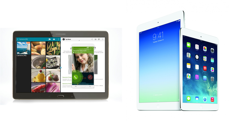 El nuevo Samsung Galaxy Tab S frente al iPad Air y Mini Retina