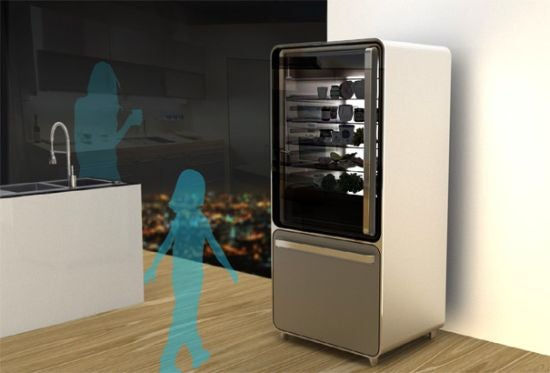 Smart Fridge Concept Generates Recipes Based On the Items Inside