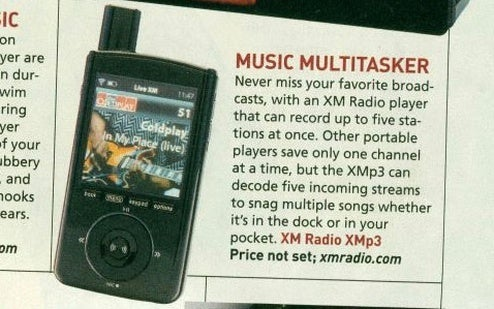 PopSci Gets Grubby Paws All Over Upcoming XMp3 Satellite Radio Player