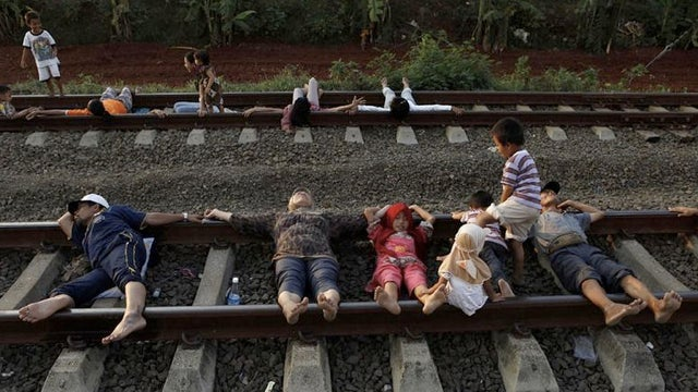 In Indonesia, lying on train tracks is a folk remedy